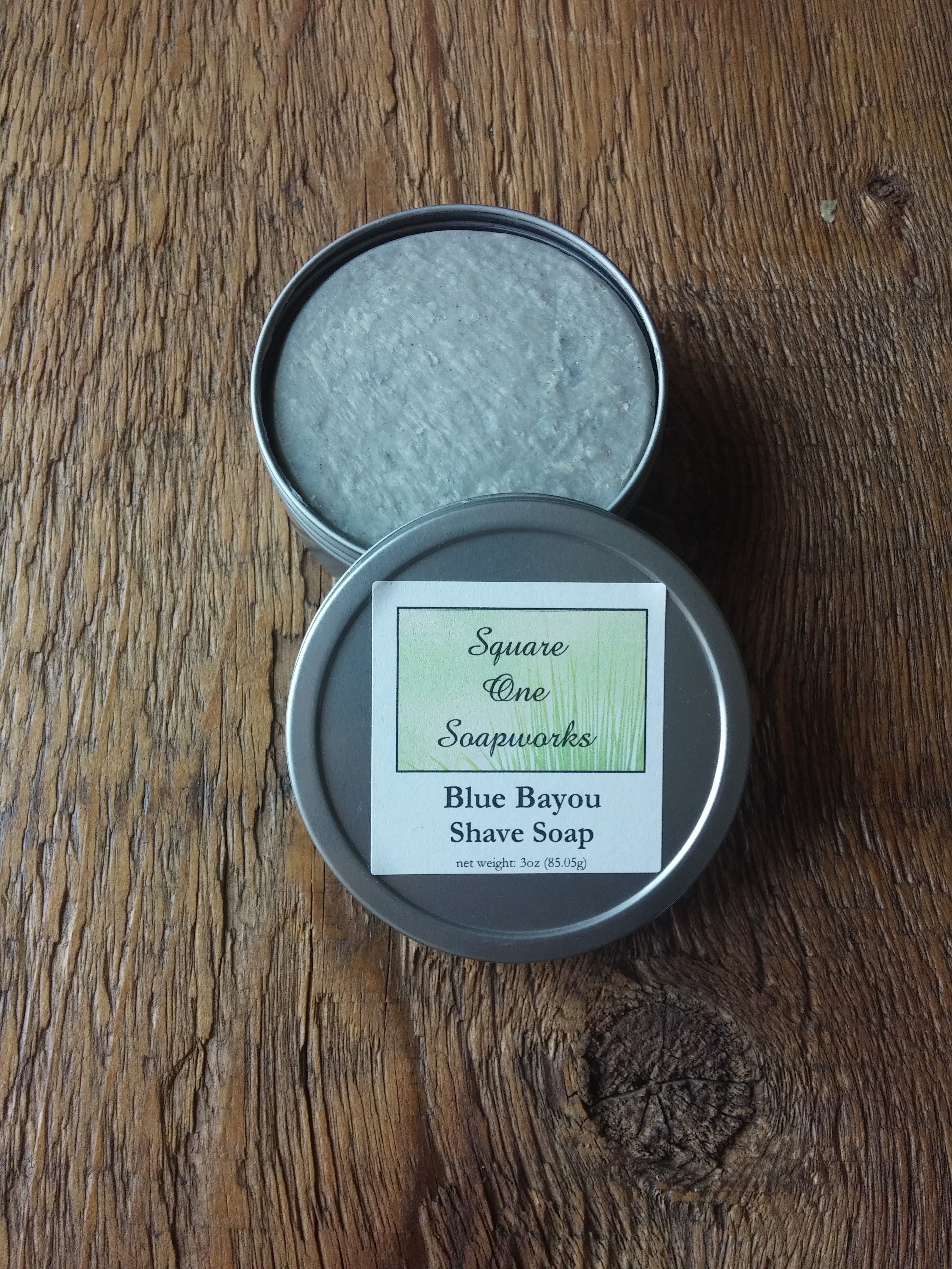 Blue Bayou Shave Soap - Square One Soapworks