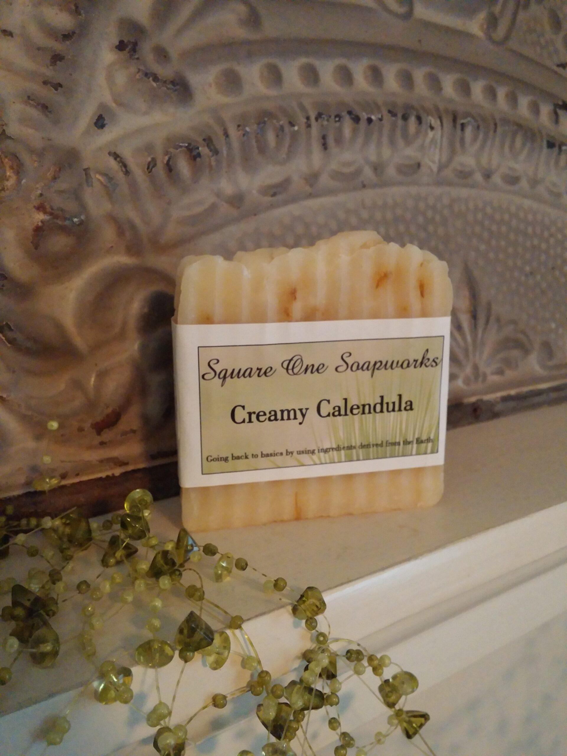 Creamy Calendula Full-Size Soap Bar - Square One Soapworks