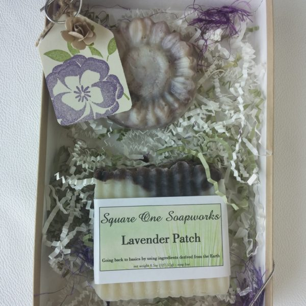 Lavender Patch Gift Box - Square One Soapworks