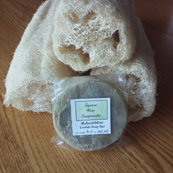 RefreshMint Loofah - Square One Soapworks