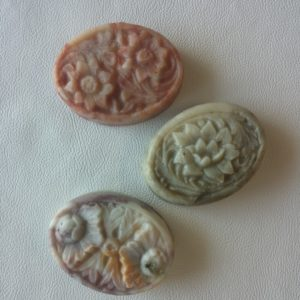 Floral Oval - Shaped Soap - Square One Soapworks