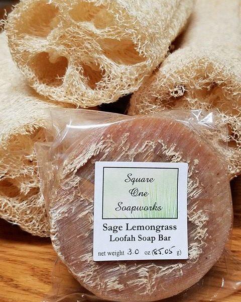 sage lemongrass loofah